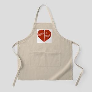 Halve A Heart BBQ Apron