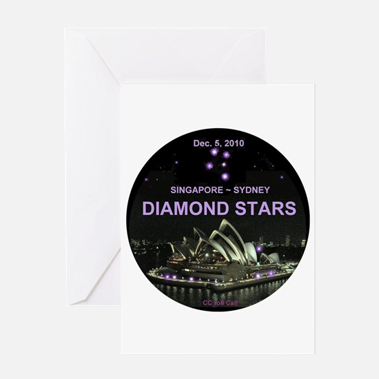 DIAMOND STARS - Greeting Card