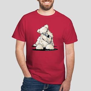 Curious Wheaten Terrier Dark T-Shirt