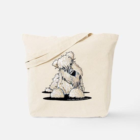 Curious Wheaten Terrier Tote Bag