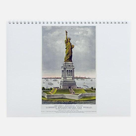 Statue of Liberty-1885 Wall Calendar