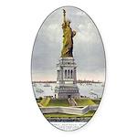 Statue of Liberty-1885 Sticker (Oval 50 pk)