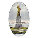 Statue of Liberty-1885 Sticker (Oval)
