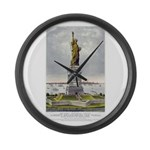 Statue of Liberty-1885 Large Wall Clock