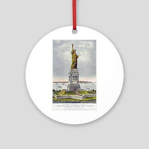 Statue of Liberty-1885 Ornament (Round)
