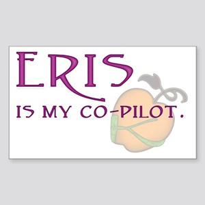 Eris Is My Co-Pilot Rectangle Sticker