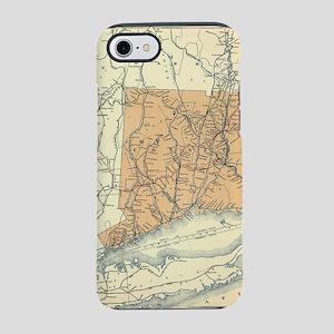 Vintage Connecticut Railroad M iPhone 7 Tough Case