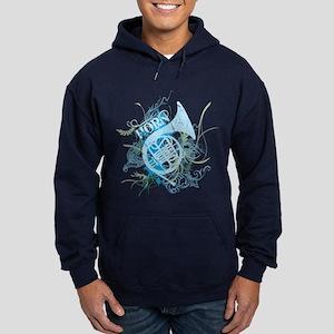 Grunge Horn Hoodie (dark)