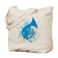 Cool Grunge French Horn Tote Bag