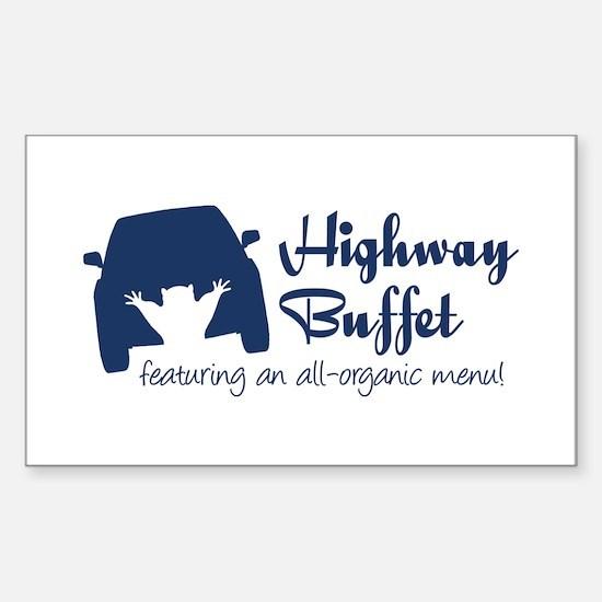 Highway Buffet Sticker (Rectangle)