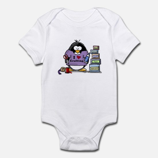 I love crafting penguin Infant Bodysuit