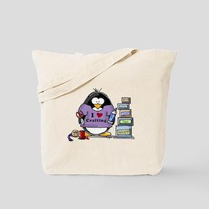 I love crafting penguin Tote Bag