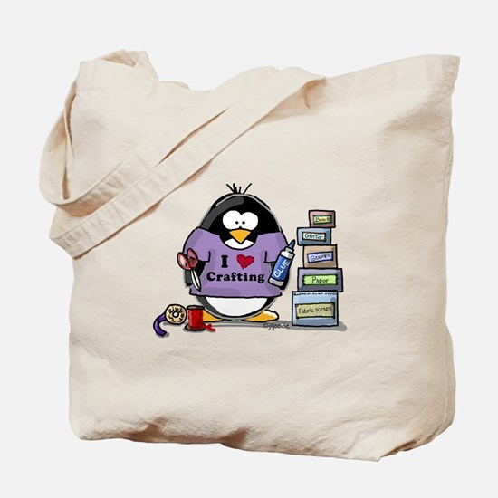 I love crafting penguin Tote Bag