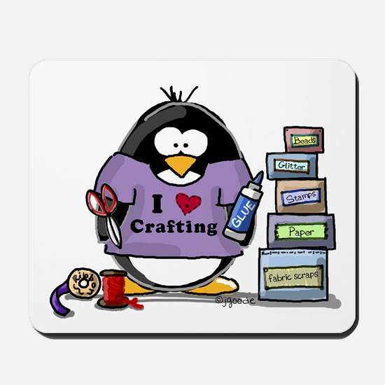 I love crafting penguin Mousepad