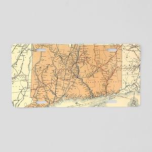 Vintage Connecticut Railroa Aluminum License Plate
