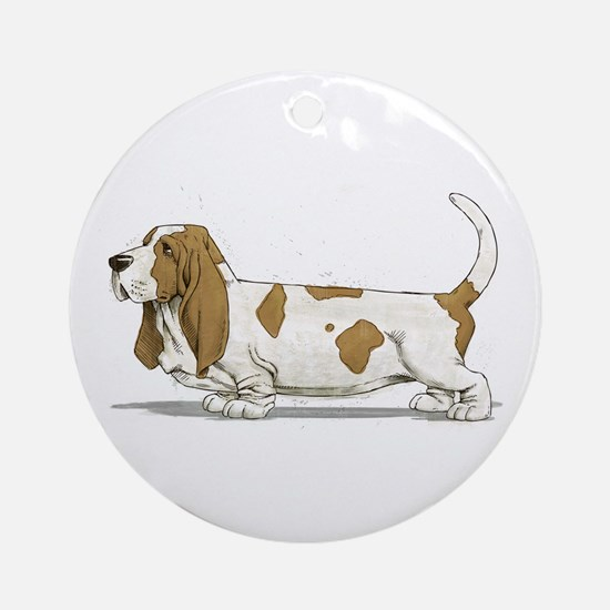 Basset Hound Ornament (Round)