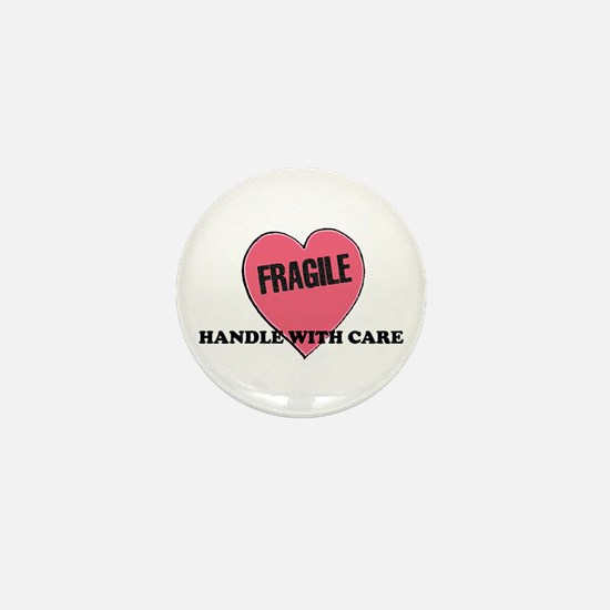 FRAGILE Handle with Care - He Mini Button
