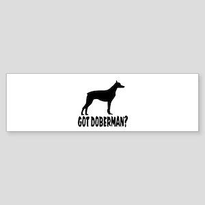 Got Doberman? Sticker (Bumper)