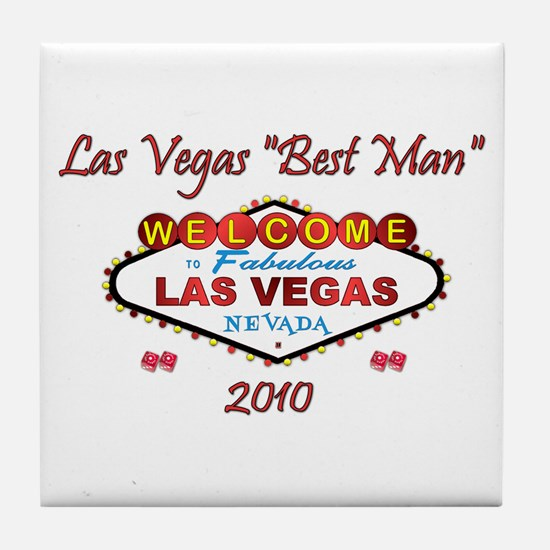 Vegas Best Man Tile Coaster