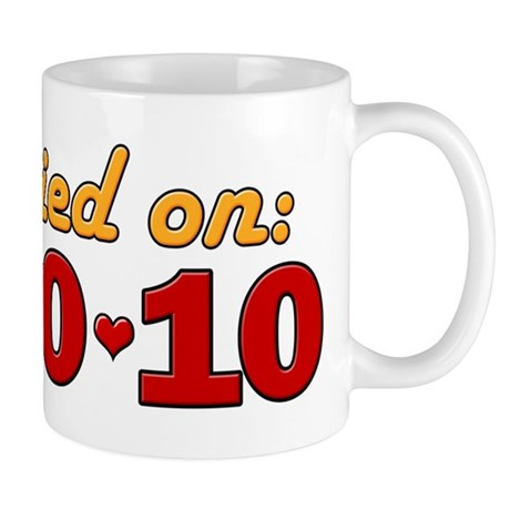 Married On 10/10/10 Mug
