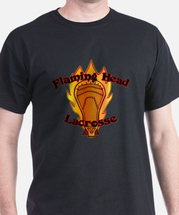 Flaming Head Lacrosse T-Shirt