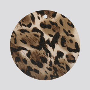 Animal Print Ornament (Round)