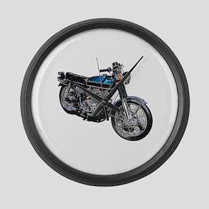 Motorcycle Large Wall Clock