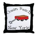 Ocean Beach Fire Island Throw Pillow