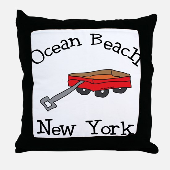 Ocean Beach Fire Island Throw Pillow