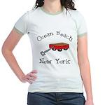 Ocean Beach Fire Island Jr. Ringer T-Shirt