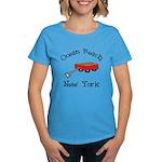 Ocean Beach Fire Island Women's Dark T-Shirt