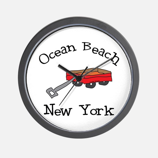 Ocean Beach Fire Island Wall Clock