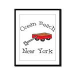 Ocean Beach Fire Island Framed Panel Print