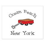 Ocean Beach Fire Island Small Poster