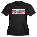Protect Marriage | Ban Divorc Women's Plus Size V-