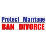 Protect Marriage | Ban Divorc Sticker (Bumper 10 p