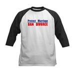 Protect Marriage | Ban Divorc Kids Baseball Jersey