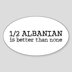 Half Albanian Sticker (Oval)