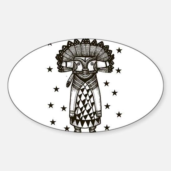 Unique Tribal stars Sticker (Oval)