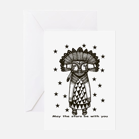 Cute Tribal stars Greeting Card