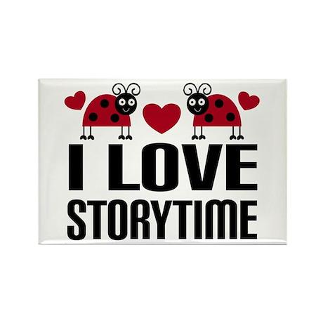Ladybug Storytime Rectangle Magnet