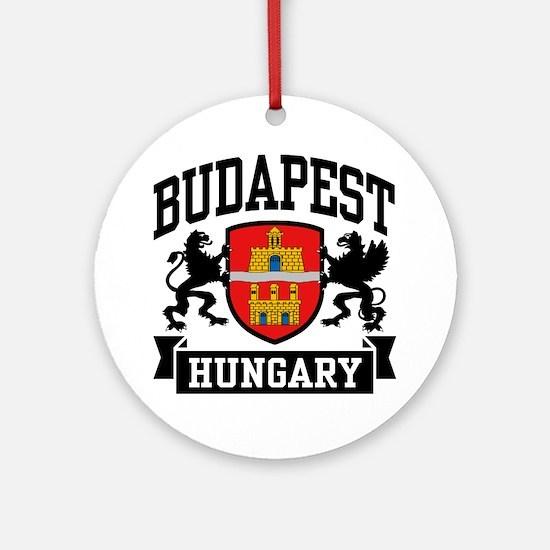 Budapest Hungary Ornament (Round)