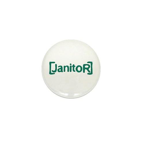 Scrubs Janitor Mini Button