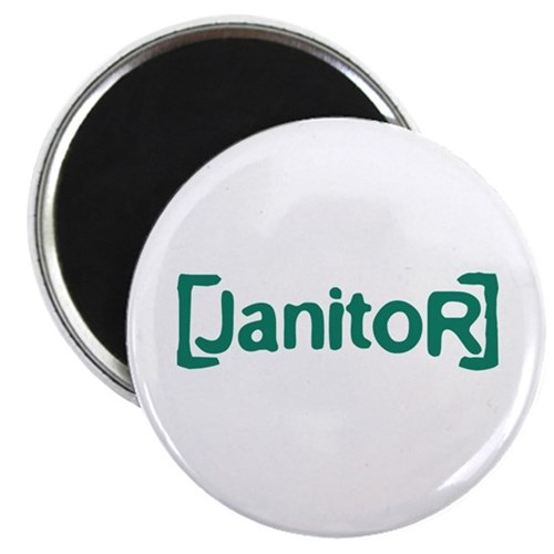 """Scrubs Janitor 2.25"""" Magnet (100 pack)"""