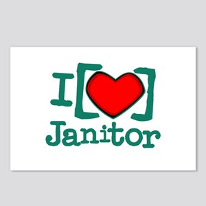 I Heart Janitor Postcards (Package of 8)