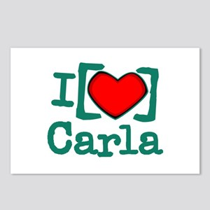 I Heart Carla Postcards (Package of 8)