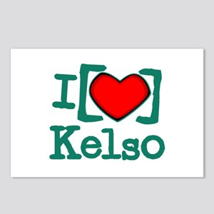 I Heart Kelso Postcards (Package of 8)
