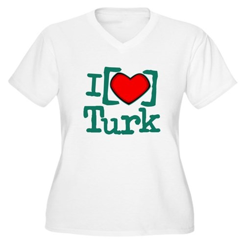 I Heart Turk Women's Plus Size V-Neck T-Shirt
