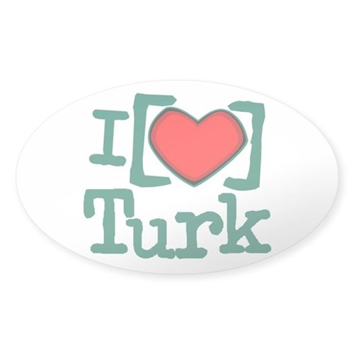 I Heart Turk Sticker (Oval 10 pk)
