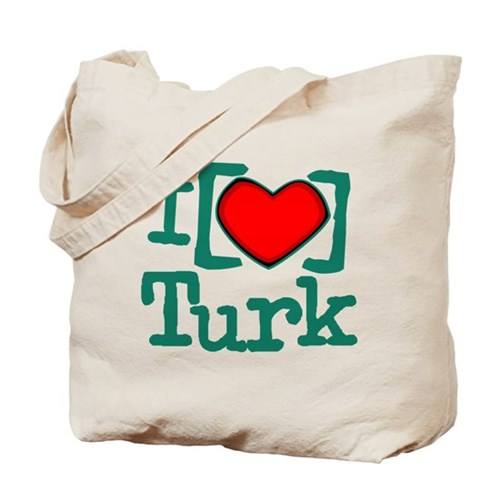 I Heart Turk Tote Bag